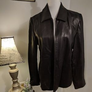 Liz Clairborne Size M Black Genuine Leather Jacket